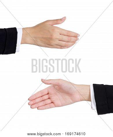 Woman's Handshake.