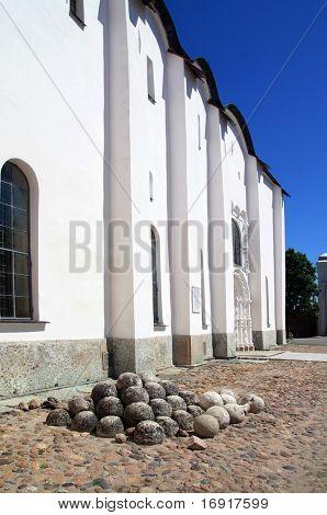 heap stone under window