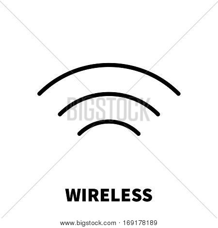 Wireless / Wi-Fi icon or logo in modern line style. High quality black outline pictogram for web site design and mobile apps. Vector illustration on a white background.