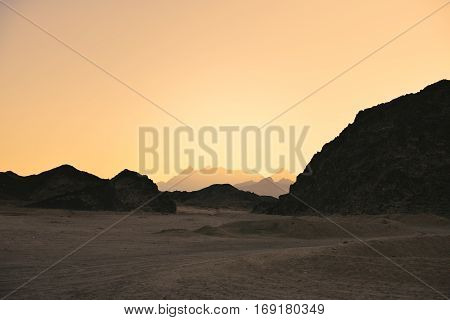 Tinted Image Landscape Of The Arabian Desert