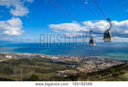 Cableway At Benalmadena, Andalusia, Spain