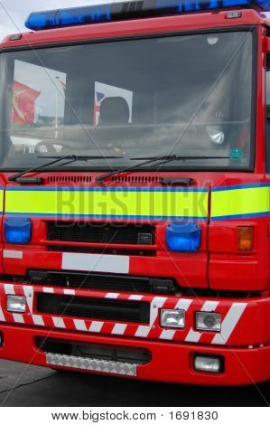 Close Up Fire Engine