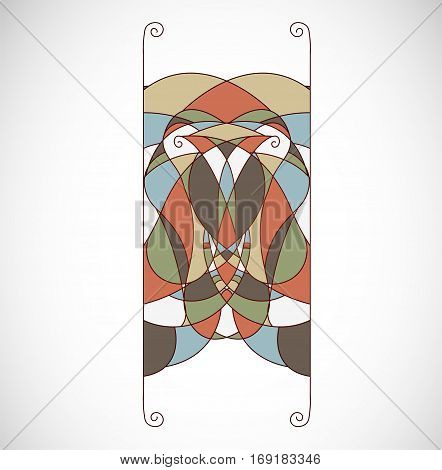Vector illustration with colorful design element. Illustration 10 version
