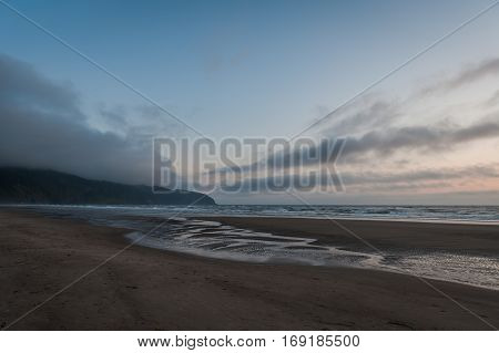 Cape Lookout scenic view at dawn Oregon USA