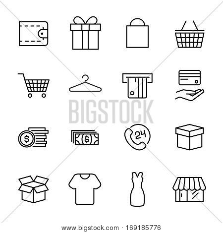 Set of safeguard icons in modern thin line style. . High quality black outline commerce symbols for web site design and mobile apps. Simple shopping pictograms on a white background.