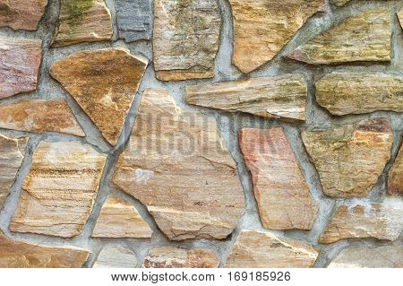Nice big expensive colorful stone wall background
