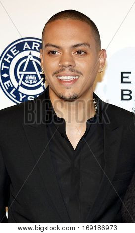 Evan Ross at the Art of Elysium Celebrating the 10th Anniversary held at the Red Studios in Los Angeles, USA on January 7, 2017.