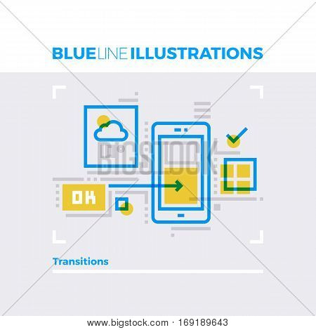 Transitions Blue Line Illustration.