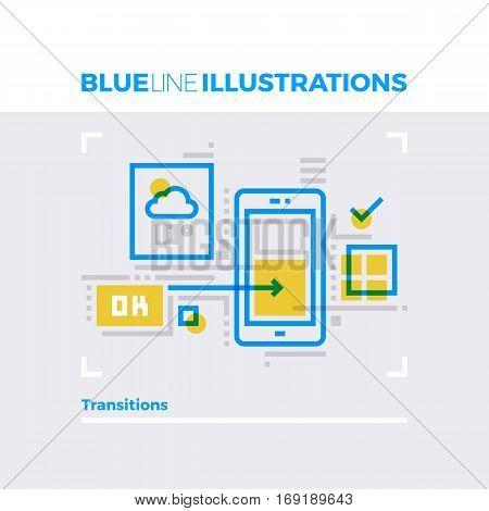 Transitions Blue Line Illustration.