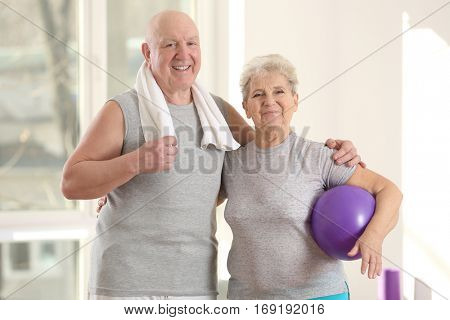 Elderly patients in modern rehabilitation center