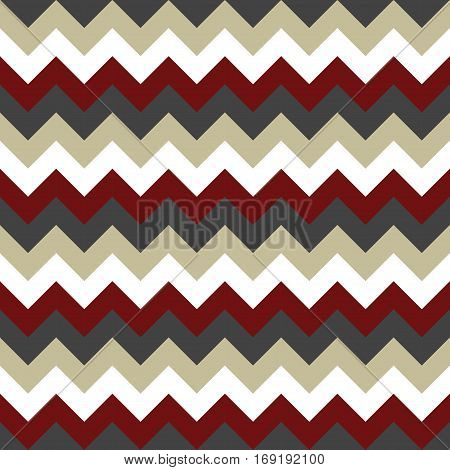 Chevron pattern seamless vector arrows  design colorful white beige dark red grey