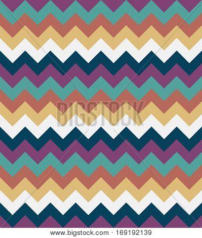 Chevron pattern seamless vector arrows  design colorful beige white brown blue aqua