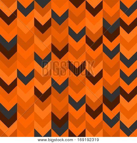 Chevron pattern seamless vector arrows  design colorful orange brown grey