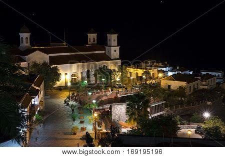 Tejeda Village At Gran Canaria, Spain At Night