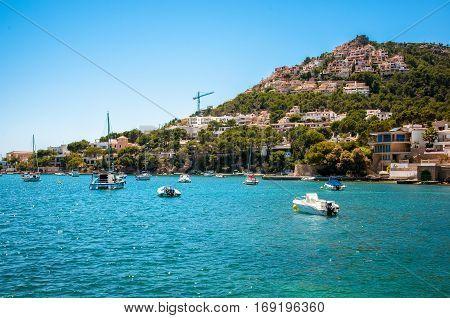 Bay port de Andratx on Mallorca, Spain