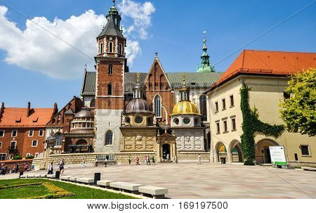 Krakow, Poland - June 18, 2012: Wawel Cathedral in Krakow