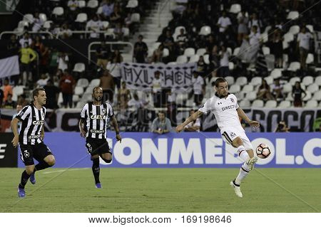 Rio Brazil - february 01 2017: Octavio Riveros during Botafogo (BRA) vs Colo Colo (CHI) in the Copa Libertadores of America match at the Nilton Santos Stadium (Engenhao)