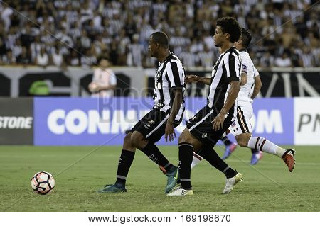 Rio Brazil - february 01 2017: Bruno Silva during Botafogo (BRA) vs Colo Colo (CHI) in the Copa Libertadores of America match at the Nilton Santos Stadium (Engenhao)