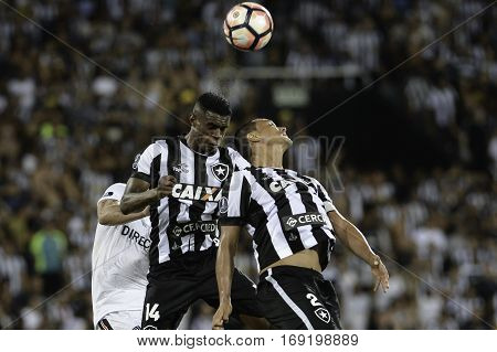Rio Brazil - february 01 2017: Marcelo and Emerson Silva during Botafogo (BRA) vs Colo Colo (CHI) in the Copa Libertadores of America match at the Nilton Santos Stadium (Engenhao)