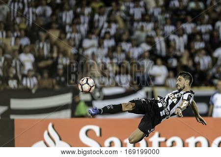 Rio Brazil - february 01 2017: Rodrigo Pimpao during Botafogo (BRA) vs Colo Colo (CHI) in the Copa Libertadores of America match at the Nilton Santos Stadium (Engenhao)