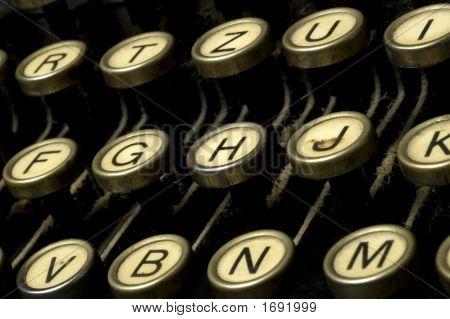 Dusty Typewriter Machine Detail
