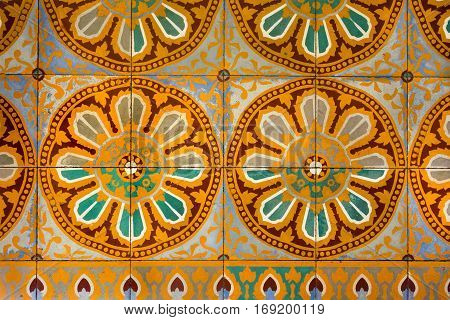 the vintage textured background and pattern of an ancient ornament