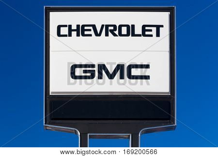 Chevrolet And Gmc Automobile Dealership Sign