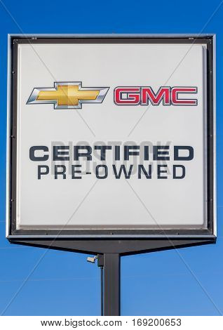 Chevrolet And Gmc Automobile Pre-owned Dealership Sign