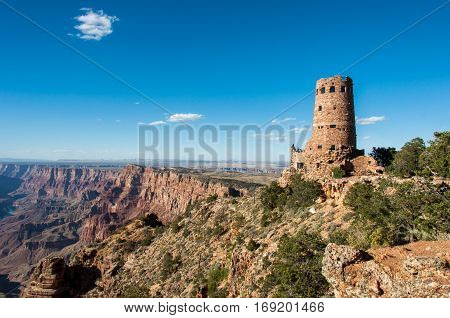 Desert View Watchtower Grand Canyon, Arizona USA
