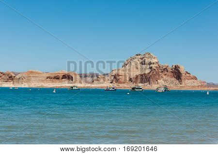 Powell  Lake in Page in Arizona, USA