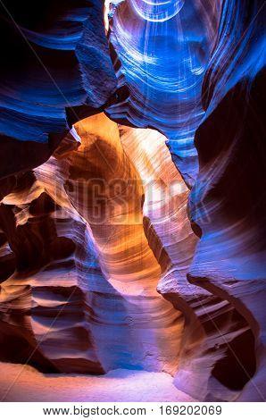 Antelope Canyon near the town of Page, Arizona, USA