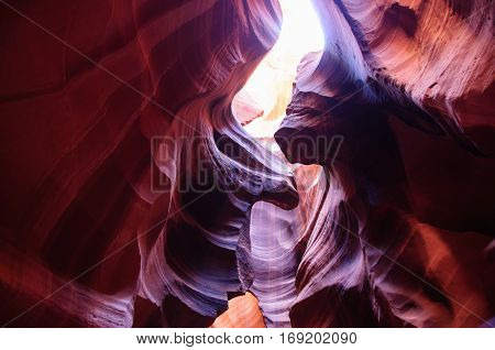 Upper Antelope Canyon near the town of Page, Arizona, USA