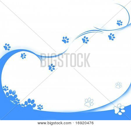 background with blue cat's tracks