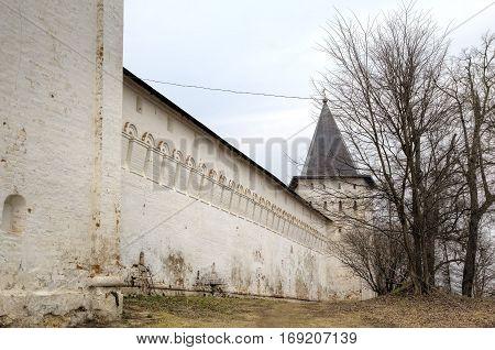 View of Savvino-Storozhevsky monastery ay Zvenigorod, Russia.