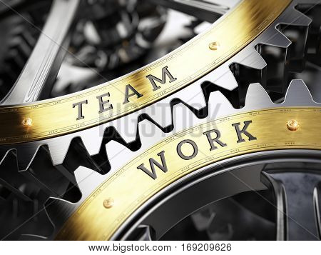 Teamwork business concept. 3d illustration