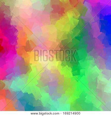 Abstract coloring background of the pastel rainbow gradient with visual cubism,wave and lighting effects