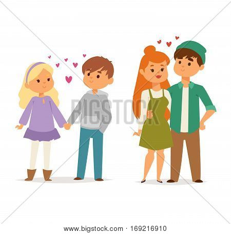 Happy smiling couple in love vector characters togetherness. Romantic woman together adult relationship. Female lifestyle beautiful happiness human.