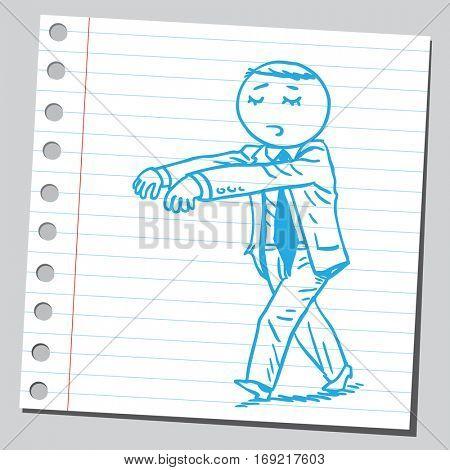 Businessman sleep walk