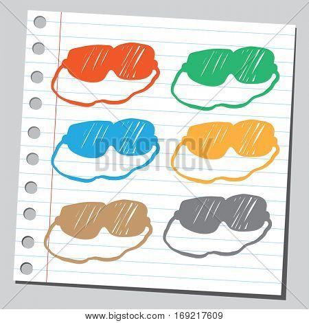 Colorful eye sleep masks