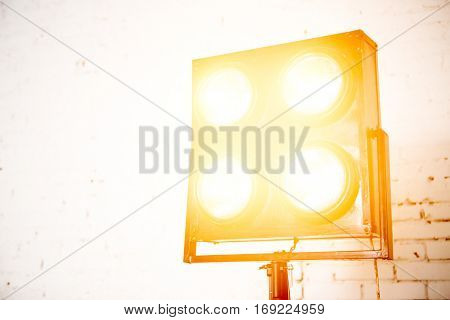 Glowing soffit in photography studio