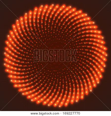 Illustration of Vector Neon Magic Tunnel. Magical Blurred Sparkle Explosion. Motion Flow Energy Tunnel