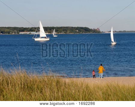 Sailboats With Spectators