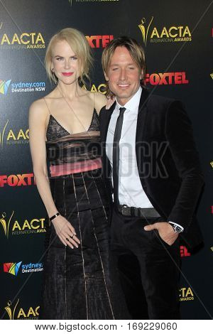 LOS ANGELES - JAN 6:  Nicole Kidman, Keith Urban at the 6th AACTA International Awards at 229 Images on January 6, 2017 in Los Angeles, CA