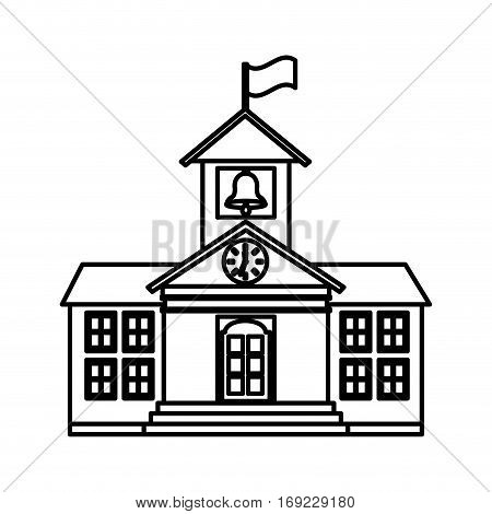 school building isolated icon vector illustration design