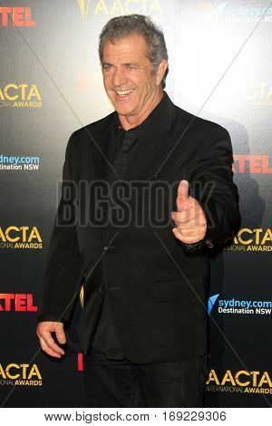 LOS ANGELES - JAN 6:  Mel GIbson at the 6th AACTA International Awards at 229 Images on January 6, 2017 in Los Angeles, CA