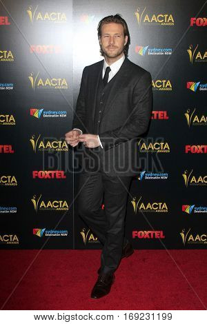 LOS ANGELES - JAN 6:  Luke Bracey at the 6th AACTA International Awards at 229 Images on January 6, 2017 in Los Angeles, CA