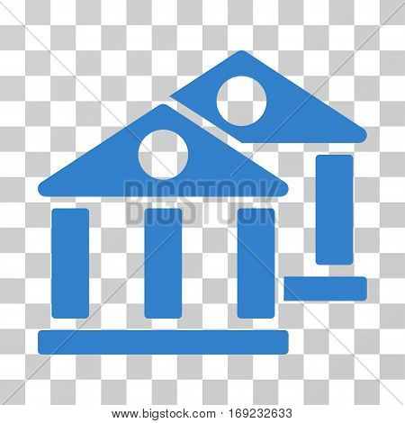 Banks icon. Vector illustration style is flat iconic symbol cobalt color transparent background. Designed for web and software interfaces.