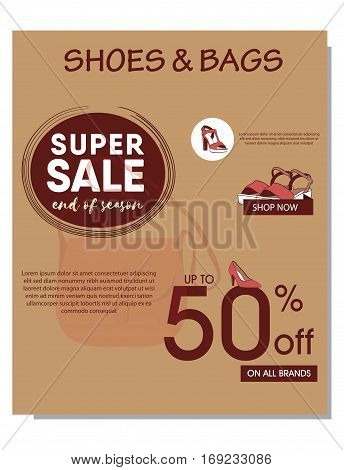 end year sale shoes and bags posters