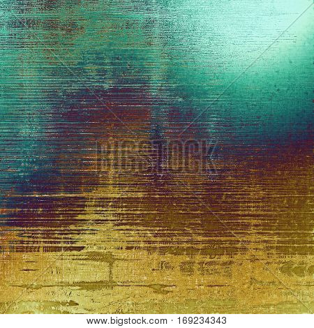 Closeup vintage texture, weathered grunge background. With different color patterns: yellow (beige); brown; green; blue; purple (violet); cyan