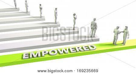 Empowered Mindset for a Successful Business Concept 3D Illustration Render